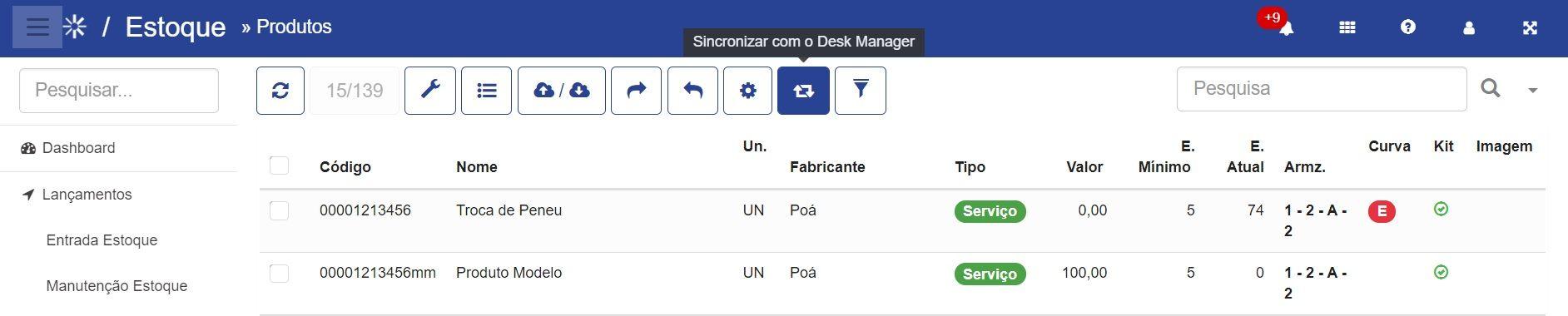 Desk-Sincronizacao